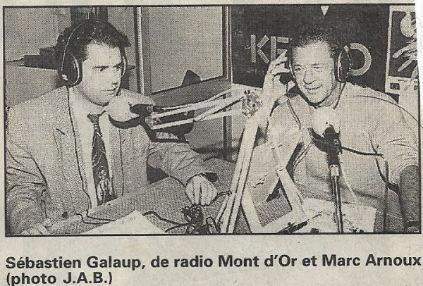 Article presse Radio Mont d'Or interview