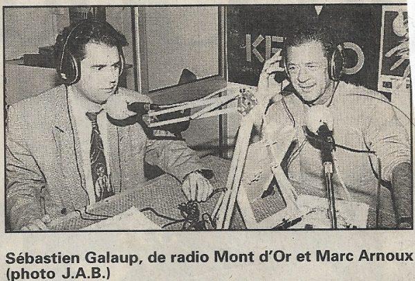 Article-presse-Radio Mont d'Or-interview-compétence animateur-Sébastien Galaup
