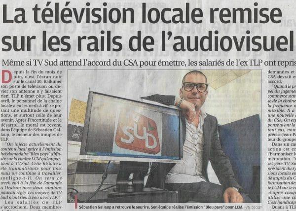 audiovisuel-Sébastien Galaup-compétence animateur-TV Sud-LCM