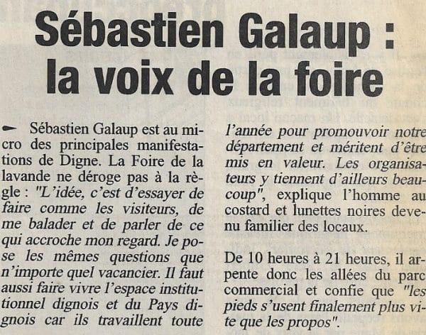 La voix de la foire Sébastien Galaup