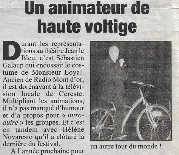 article-presse-compétence animateur-Sébastien Galaup-présentateur-scène