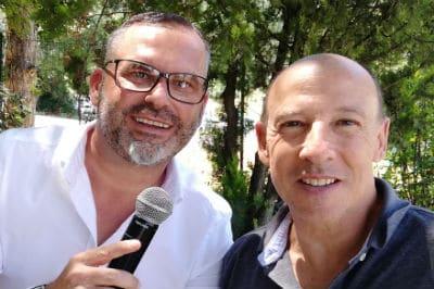 Sébastien Galaup-animateur micro-Didier Auriol-Champion du Monde-Rallyes-interview
