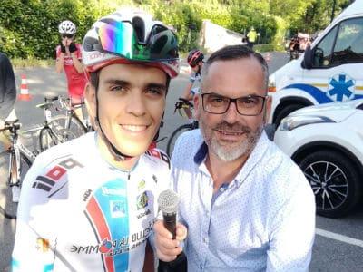 Sébastien Galaup speaker pour le cyclisme