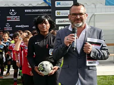 Sébastien Galaup-presentateur sportif-tournoi de football-Marseille-joueurs-stade