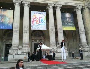 décoration-entrée des artistes-Grand Palais-animation soirée entreprise