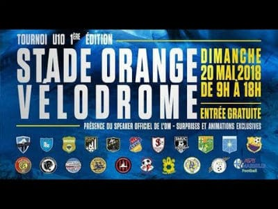 Tournoi-foot-stade-vélodrome-Marseille-Sébastien Galaup-speaker sportif-jeunes