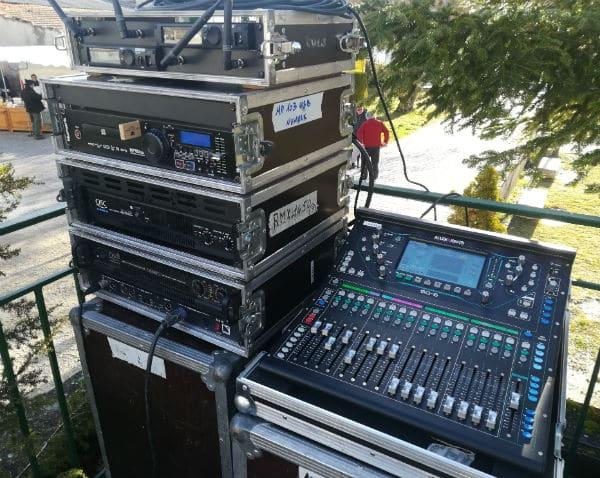 sonorisation-micro HF-haut parleur