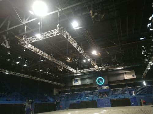 Palais des sports-installation technique-éclairages-son