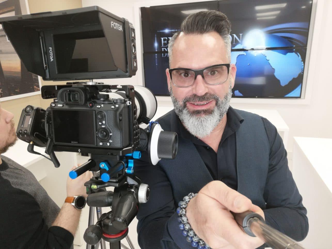 web TV-présentation-tournage