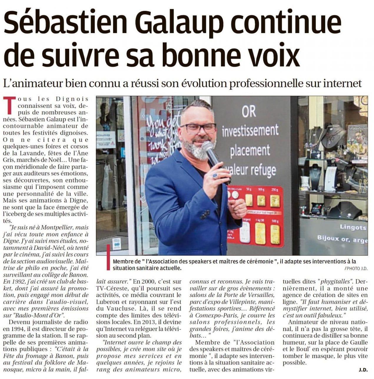 Article-journal-presse écrite-Sébastien Galaup